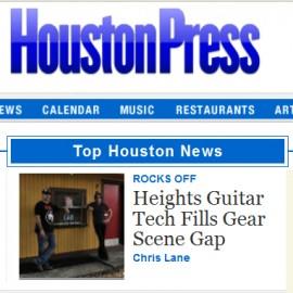 Heights Guitar Tech Fills Big Gap in Gear-Repair Scene featured in the Houston Press