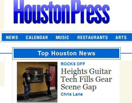 Heights Guitar Tech Fills Big Gap in Gear-Repair Scene featured in the Houston Press